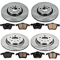 02OEREP45 SureStop OE Replacement Front And Rear Brake Disc and Pad Kit, 4-Wheel Set