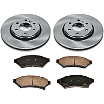 02OEREP46 SureStop OE Replacement Front Brake Disc and Pad Kit, 2-Wheel Set