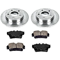 SureStop Rear Replacement Brake Disc and Pad Kit - 2-Wheel Set, Incl. 10.51 in. Replacement Rotors