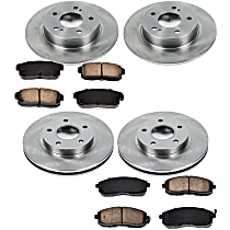 03OEREP27 SureStop OE Replacement Front And Rear Brake Disc and Pad Kit, 4-Wheel Set