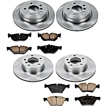 03OEREP41 SureStop OE Replacement Front And Rear Brake Disc and Pad Kit, 4-Wheel Set