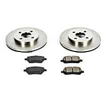 04OEREP16 SureStop OE Replacement Front Brake Disc and Pad Kit, 2-Wheel Set