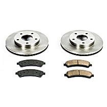 04OEREP20 SureStop OE Replacement Front Brake Disc and Pad Kit, 2-Wheel Set
