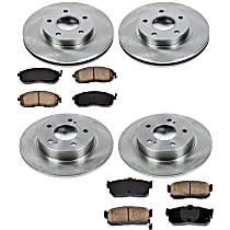 04OEREP27 SureStop OE Replacement Front And Rear Brake Disc and Pad Kit, 4-Wheel Set