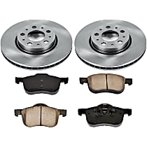 04OEREP30 SureStop OE Replacement Front Brake Disc and Pad Kit, 2-Wheel Set