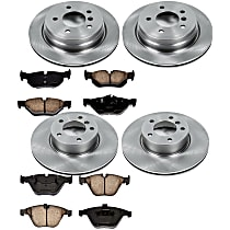 04OEREP41 SureStop OE Replacement Front And Rear Brake Disc and Pad Kit, 4-Wheel Set