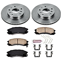 04OEREP49 SureStop OE Replacement Front Brake Disc and Pad Kit, 2-Wheel Set