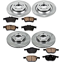 04OEREP58 SureStop OE Replacement Front And Rear Brake Disc and Pad Kit, 4-Wheel Set