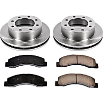 SureStop Front Replacement Brake Disc and Pad Kit - 2-Wheel Set, 4WD Models, Incl. 13.03 in. Replacement Rotors