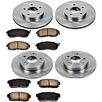 05OEREP27 SureStop OE Replacement Front And Rear Brake Disc and Pad Kit, 4-Wheel Set
