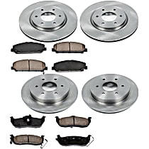 05OEREP28 SureStop OE Replacement Front And Rear Brake Disc and Pad Kit, 4-Wheel Set