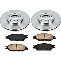 SureStop Front Replacement Brake Disc and Pad Kit - 2-Wheel Set, Models With Rear Drum