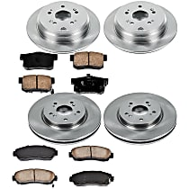 05OEREP63 SureStop OE Replacement Front And Rear Brake Disc and Pad Kit, 4-Wheel Set