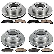 06OEREP19 SureStop OE Replacement Front And Rear Brake Disc and Pad Kit, 4-Wheel Set