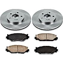SureStop Front Replacement Brake Disc and Pad Kit - 2-Wheel Set, RWD, Canada Built Models