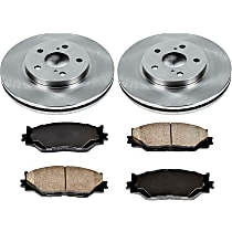For 2014-2015 Lexus IS250 Brake Pad and Rotor Kit Front and Rear Centric 77571KJ