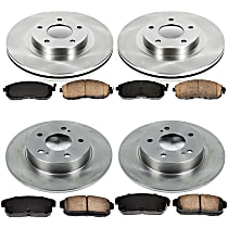06OEREP27 SureStop OE Replacement Front And Rear Brake Disc and Pad Kit, 4-Wheel Set
