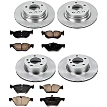 06OEREP41 SureStop OE Replacement Front And Rear Brake Disc and Pad Kit, 4-Wheel Set