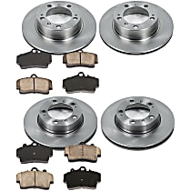 06OEREP44 SureStop OE Replacement Front And Rear Brake Disc and Pad Kit, 4-Wheel Set