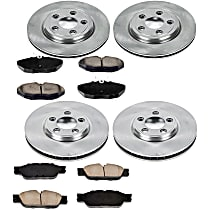 06OEREP55 SureStop OE Replacement Front And Rear Brake Disc and Pad Kit, 4-Wheel Set