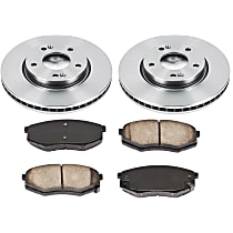 06OEREP58 SureStop OE Replacement Front Brake Disc and Pad Kit, 2-Wheel Set
