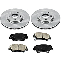 06OEREP63 SureStop OE Replacement Front Brake Disc and Pad Kit, 2-Wheel Set