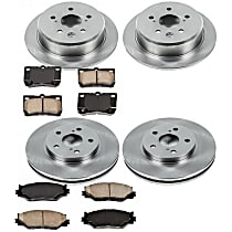07OEREP24 SureStop OE Replacement Front And Rear Brake Disc and Pad Kit, 4-Wheel Set