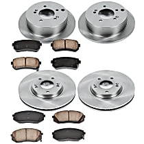 07OEREP63 SureStop OE Replacement Front And Rear Brake Disc and Pad Kit, 4-Wheel Set