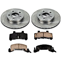 08OEREP48 SureStop OE Replacement Front Brake Disc and Pad Kit, 2-Wheel Set