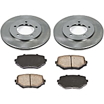 08OEREP63 SureStop OE Replacement Front Brake Disc and Pad Kit, 2-Wheel Set