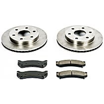 09OEREP20 SureStop OE Replacement Front Brake Disc and Pad Kit, 2-Wheel Set