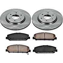 09OEREP29 SureStop OE Replacement Front Brake Disc and Pad Kit, 2-Wheel Set