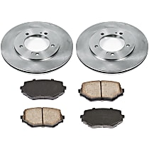 09OEREP51 SureStop OE Replacement Front Brake Disc and Pad Kit, 2-Wheel Set