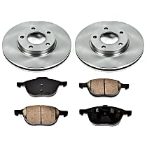 0OEREP12 SureStop OE Replacement Front Brake Disc and Pad Kit, 2-Wheel Set