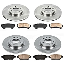 SureStop Front And Rear Replacement Brake Disc and Pad Kit - 4-Wheel Set, Incl. 11.77 in. Front/11.02 in. Rear
