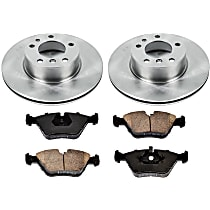 Power Stop KOE6023 Front and Rear Stock Replacement Brake Kit