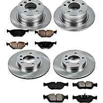 0OEREP50 SureStop OE Replacement Front And Rear Brake Disc and Pad Kit, 4-Wheel Set