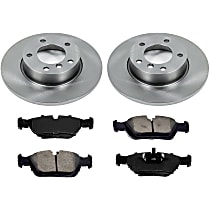 0OEREP59 SureStop OE Replacement Front Brake Disc and Pad Kit, 2-Wheel Set