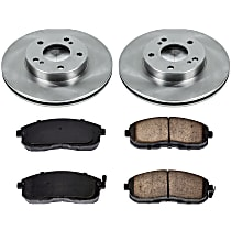 0OEREP66 SureStop OE Replacement Front Brake Disc and Pad Kit, 2-Wheel Set