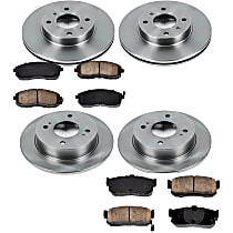 0OEREP75 SureStop OE Replacement Front And Rear Brake Disc and Pad Kit, 4-Wheel Set