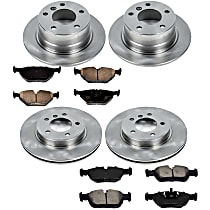 0OEREP87 SureStop OE Replacement Front And Rear Brake Disc and Pad Kit, 4-Wheel Set