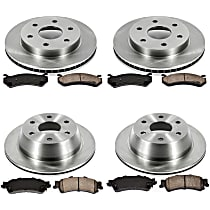 10OEREP20 SureStop OE Replacement Front And Rear Brake Disc and Pad Kit, 4-Wheel Set