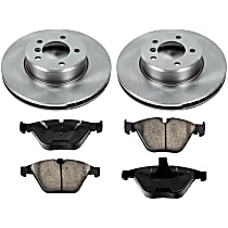 10OEREP21 SureStop OE Replacement Front Brake Disc and Pad Kit, 2-Wheel Set