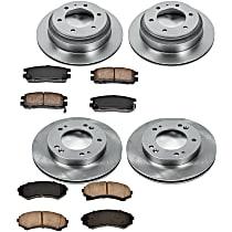 11OEREP43 SureStop OE Replacement Front And Rear Brake Disc and Pad Kit, 4-Wheel Set