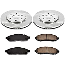 11OEREP46 SureStop OE Replacement Front Brake Disc and Pad Kit, 2-Wheel Set