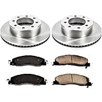 11OEREP54 SureStop OE Replacement Front Brake Disc and Pad Kit, 2-Wheel Set