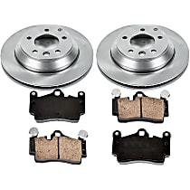 12OEREP53 SureStop OE Replacement Rear Brake Disc and Pad Kit, 2-Wheel Set