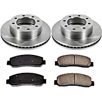 SureStop Front Replacement Brake Disc and Pad Kit - 2-Wheel Set, 4WD Models, Incl. 13.66 in. Replacement Rotors