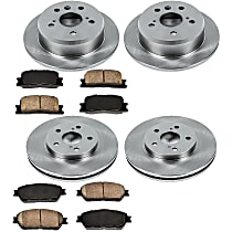 13OEREP24 SureStop OE Replacement Front And Rear Brake Disc and Pad Kit, 4-Wheel Set