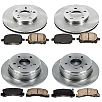 13OEREP27 SureStop OE Replacement Front And Rear Brake Disc and Pad Kit, 4-Wheel Set